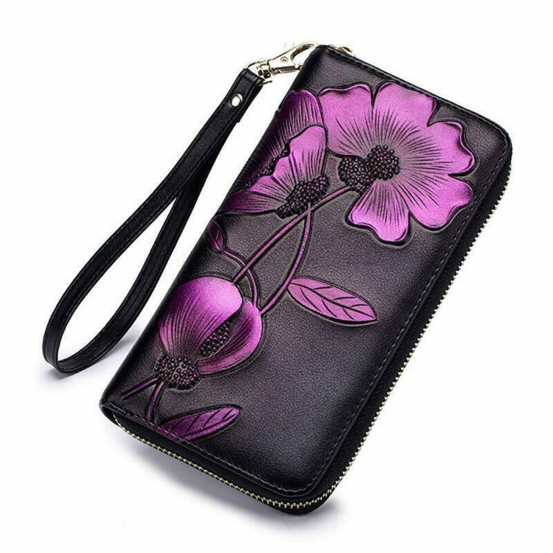 Details about Women Wallets Ladies Leather Wallets Long Trifold Clutch Purse  Large Capacity 7b89d97eb