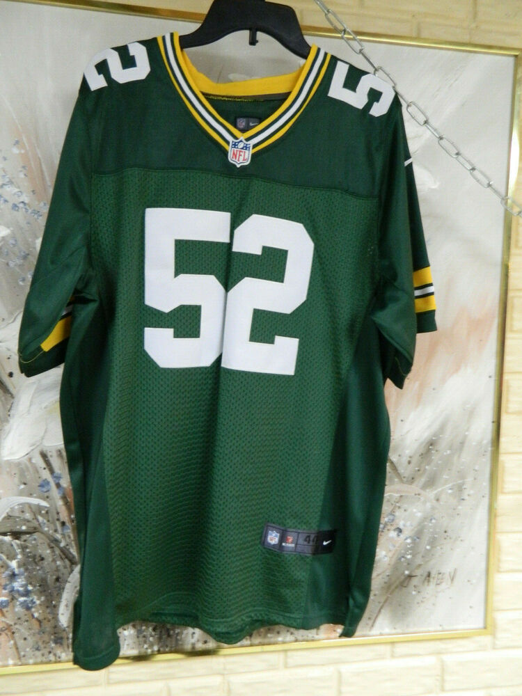 New NWT NFL NIKE ON FIELD #52 CLAY MATTHEWS GREEN BAY PACKERS SZ 44 SS