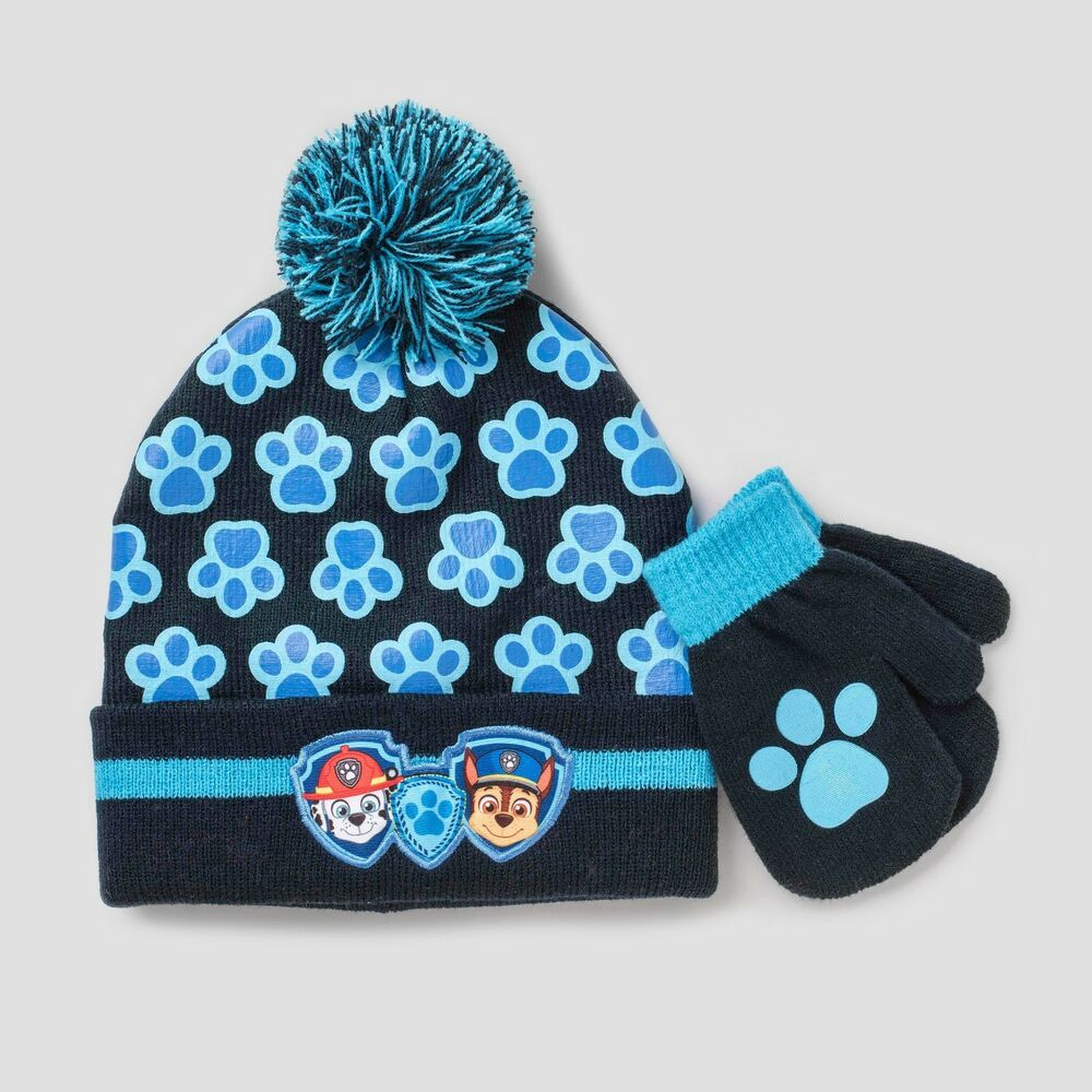 5c850d24441 Details about PAW PATROL- CHASE   MARSHALL BOY S HAT   MITTENS SET SIZE  INFANT TODDLER NWT