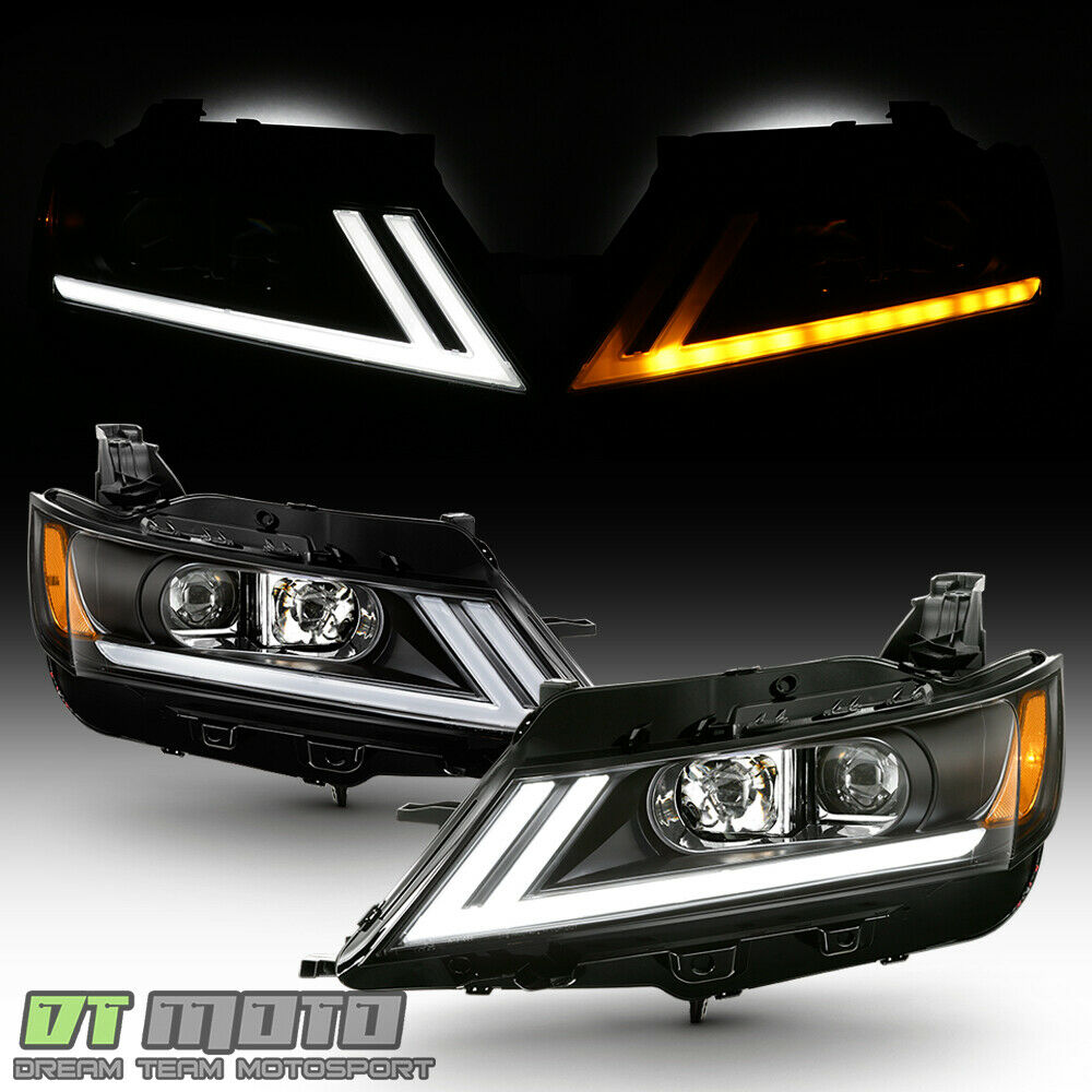 2014-2019 Chevy Impala LED DRL SWITCHBACK Black Projector