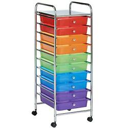 a6def951e88 10 drawer rainbow storage trolley for home office stationery