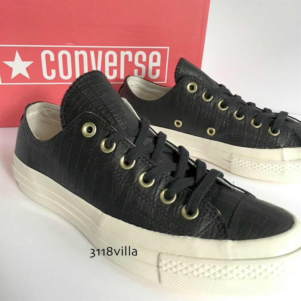 4d62c6e8baab6f Details about Converse CTAS  70 OX Women s Reptile Leather Low Top Sneakers  size 8 8.5