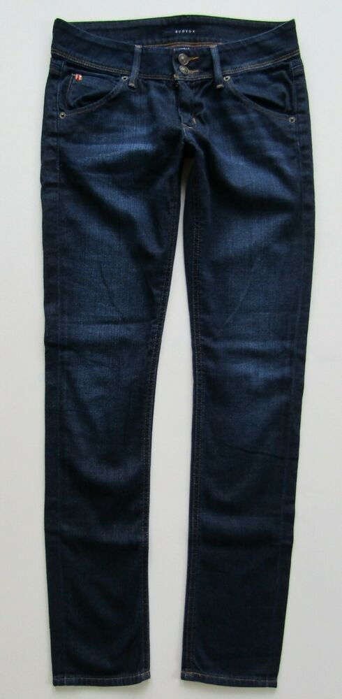 c2de0e0c551 Details about HUDSON Collin Signature Skinny Low Rise Flap Pocket Jean,  Dark Wash - Size 26