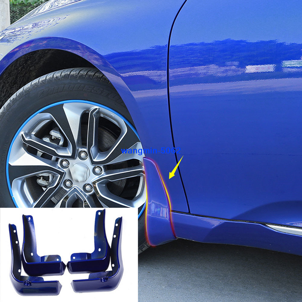 4PCS For Honda Accord 2018 2019 Blue Mud Flap Flaps Splash