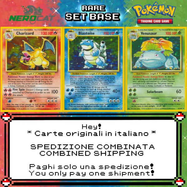 🍀Carte Pokémon RARE SET BASE lotto Pokemon Spedizione unica combinata🍀