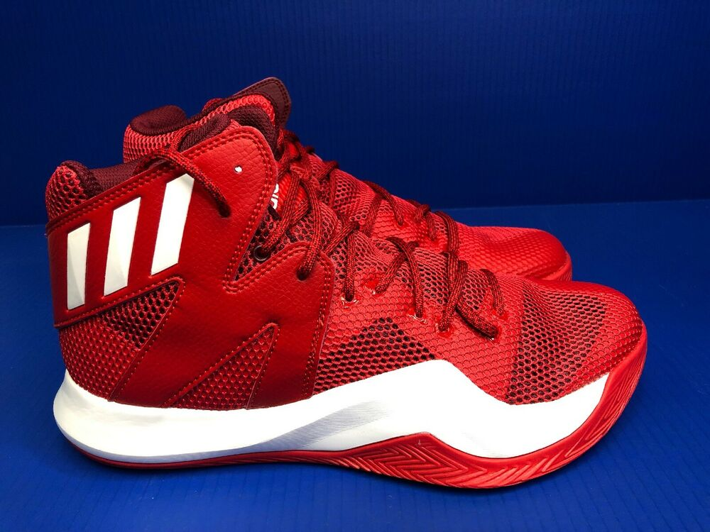 d2fb593b94be8 Details about nib adidas crazy bounce men basketball shoes sneakers size red  white jpg 1000x750 Crazy
