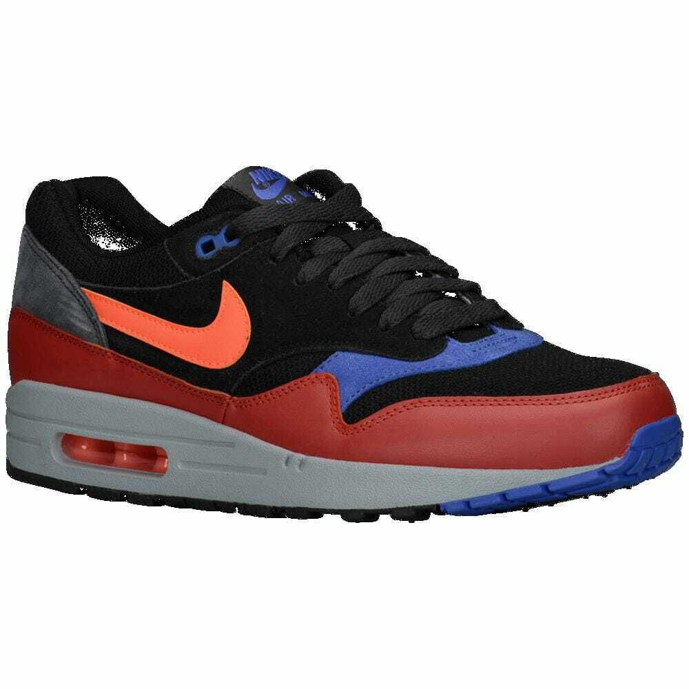 43d945d0b6 Details about Nike Air Max 1 Black/Red Clay/Anthracite/Hyper Crimson  Essential Men's 37383017