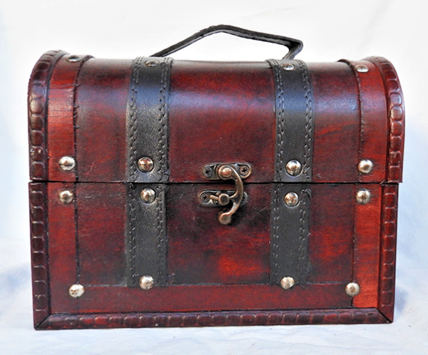 Pirate Chest Style Wooden Storage Box / Trunk / Chest  - NEW
