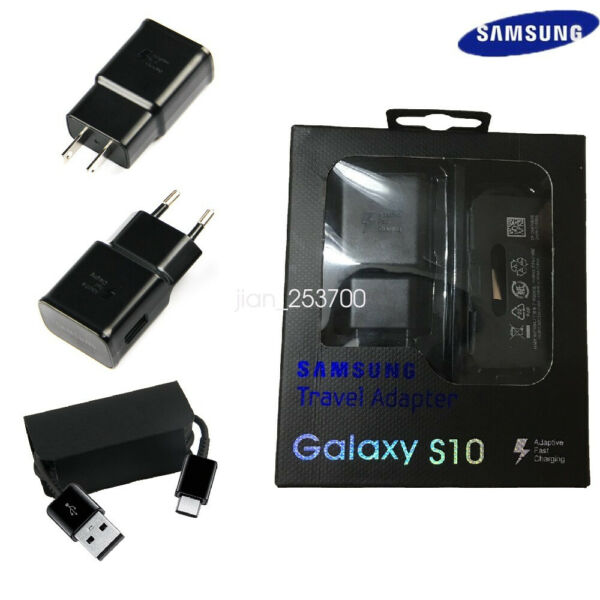 Original Samsung Galaxy S10 TA200 Fast Wall Charger Type C Cable S10e S10 Plus
