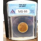 1959 SOVEREIGN  MS-66 GREAT BRITAIN GOLD COIN ANACS  # 1516888