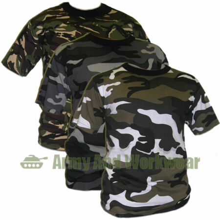 img-Camouflage Military Ops Army Camo Print Combat T-SHIRT TOP DPM Mens Short Sleeve