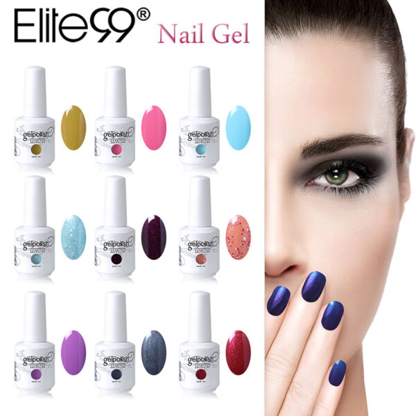 Elite99 15ML Vernis semi Permanent Nail Art Soak off UV Gel Gelish 41Couleurs