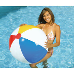 36'' SUNCO Inflatable CLASSIC 4 Color Beach Ball, Vintage 1998 Pool Toy