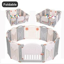 Kyпить 14 Panel Foldable Baby Playpen Kids Panel Safety Child Play Center Yard Indoor на еВаy.соm