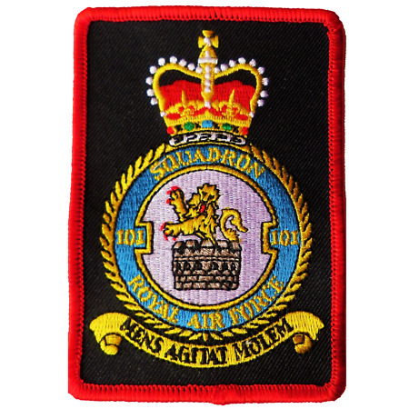 img-No. 101 Squadron Royal Air Force RAF Crest New Rectangular Embroidered Patch