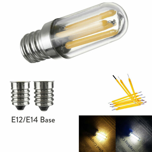 Mini E14 E12 LED Fridge Freezer Filament Light COB Dimmable Bulbs 1W 2W 4W Lamp