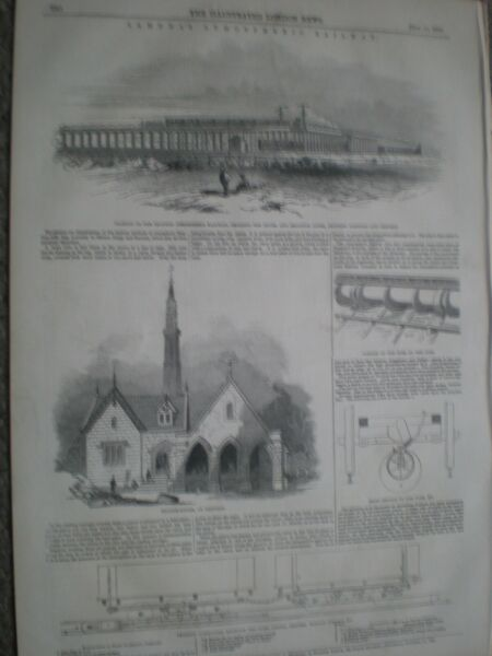 Samuda Croydon Atmospheric Railway 1845 prints ref AN