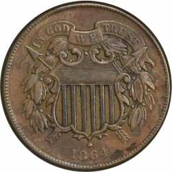 Kyпить 1864 Two Cent Piece, Large Motto, EF, Uncertified на еВаy.соm
