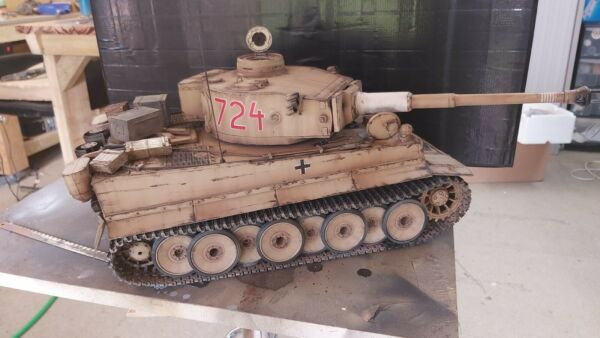 Car Body DIY Model Parts Fit for HengLong 1//16 Tiger I RC Tank Armored Car 3818