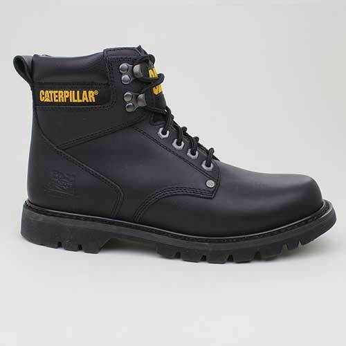 Caterpillar Stivali Second Shift Black Nero pelle P703925 Scarpe da Camminata