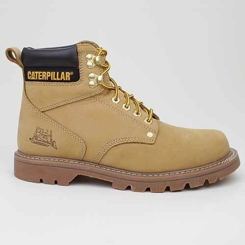Caterpillar Stivali Second Shift Miele Beige Braun pelle P701629 Wander Scarpe