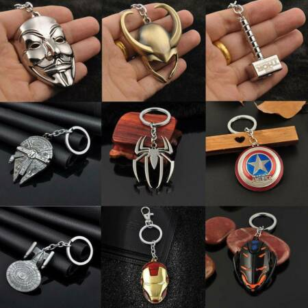 img-Retro The Avengers Marvel Character Captain America Keychain Car Keyfob Keyring