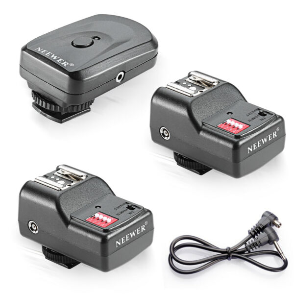 Neewer 16 Canali Wireless Remoto FM Flash Speedlite Trigger con 2,5mm Ricevitore