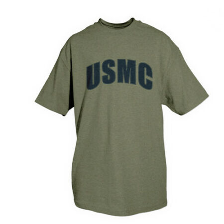 img-T-Shirt Usmc Marines Olive Terne Divers Tailles fox outdoor 64-562