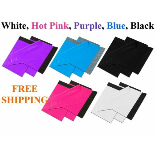 50-1000 Colour Poly Mailers Shipping Envelopes Self Sealing Plastic Mailing Bags