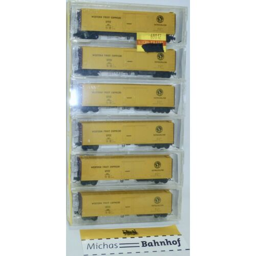 6x Great Northern Wfex 51' Mech Reefer Micro Trains Line 69012 1:160 Boxed W16å