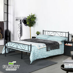Kyпить Twin Full Queen Metal Bed Frame Platform Foundation Headboard Footboard Bedroom на еВаy.соm