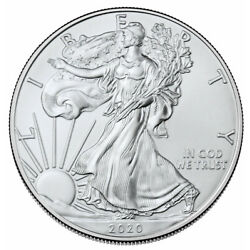 Kyпить 2020 1 oz American Silver Eagle $1 Coin GEM BU SKU59436 на еВаy.соm
