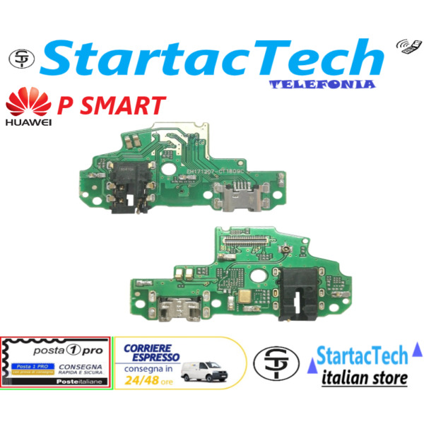 DOCK CONNETTORE RICARICA HUAWEI P SMART FIG-LX1 JACK FLAT FLEX MICROFONO