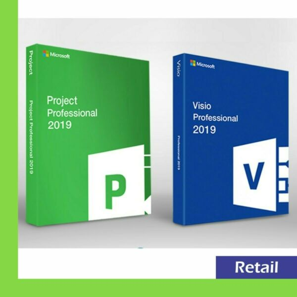 ** Official Microsoft Visio + Project Pro 2019 5 PC key **