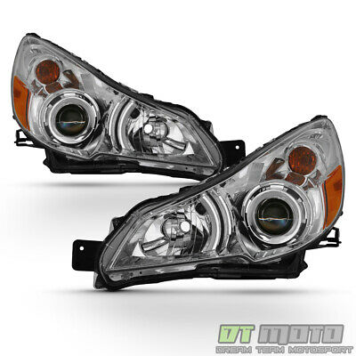 For 2010-2014 Subaru Legacy Outback Projector Headlights Headlamps 10-14 Pair