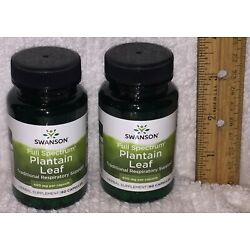 TWO, Plantain Leaf from Swanson, 120 Capsules (total), 400 mg each