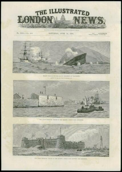 1888 - LIVERPOOL DEFENCES NORTH FORT PERCH ROCK BATTERY CHILE VALPARAISO (174)