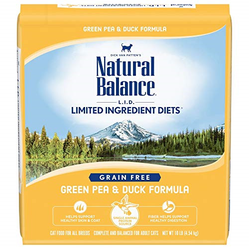 Natural Balance Dry Cat Food Limited Ingredient Diet Green Pea And Duck 10 Lb...