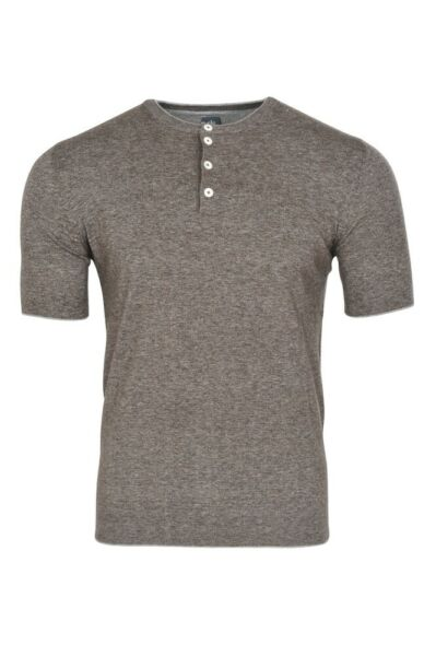 AllemagneEleventy Camiseta Hombre L Gris Oscuro 100% Baumwolle   Tela