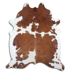 Kyпить Real Cowhide Rug Brown & White Size 6 by 7 ft, Top Quality, Large Size на еВаy.соm
