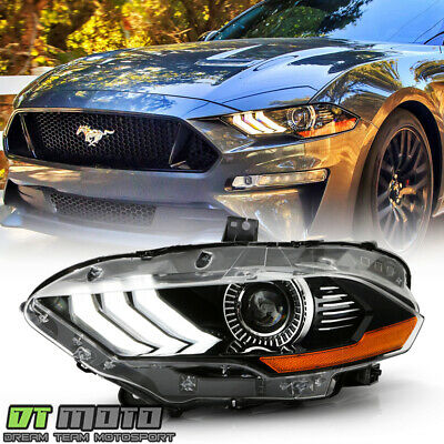 For [Factory LED Projector w/ DRL Headlight] 2018-2020 Ford Mustang Driver Side
