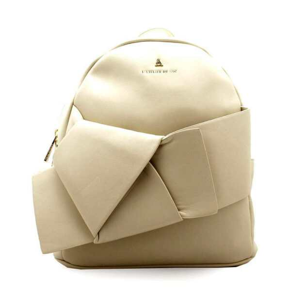 ItaliePashBAG Backpack Starlight  Cream With pashmina coordinated - PashBAG_9706