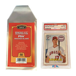 Kyпить 50 CBG Max Pro Perfect Snug Fit Graded Card Sleeves Bags - PSA Size - Clearest! на еВаy.соm