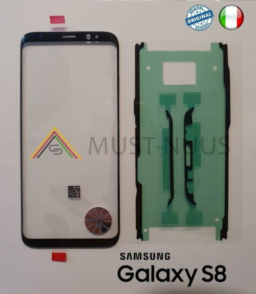 VETRINO VETRO FRONTALE TOUCH SCREEN DISPLAY + BIADESIVO SAMSUNG GALAXY S8