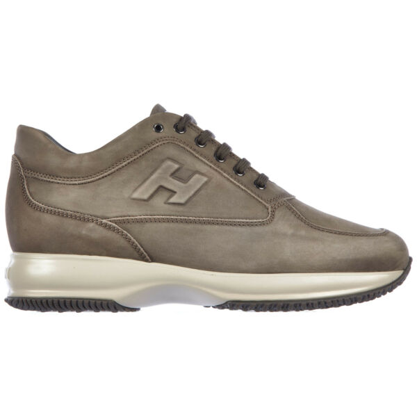ItalieHogan sneakers men  HXM00N09041LNDB216 Fudge leather shoes trainers