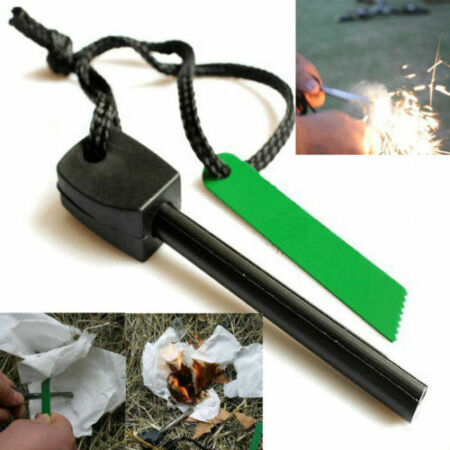 img-survival Camping Emergency Gear Kit Magnesium Flint Stone Fire Starter Lighter ^