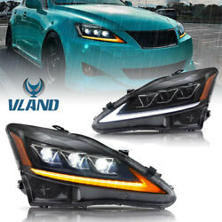 VLAND Pair LED Projector Headlight For 2006-2012 Lexus IS 250 IS 350 IS F