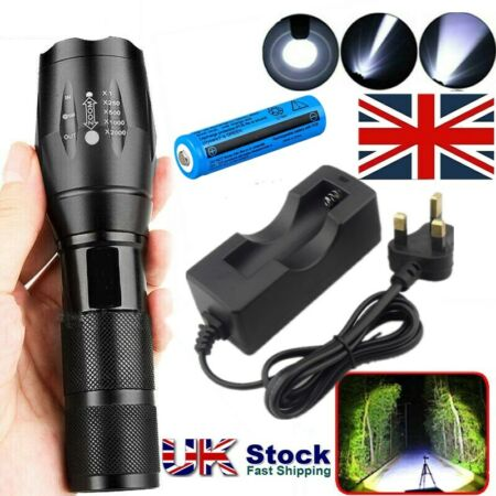 img-990000Lumens Police Tactical Flashlight T6 LED Military Torch Lamp+18650+Charger