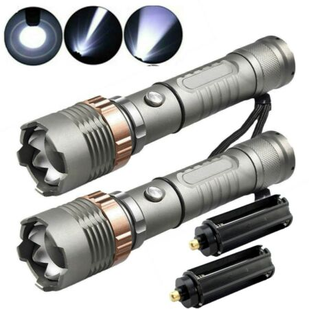 img-2PC 990000LM Ultra Strong Tactical Flashlight Powerful LED Torch Lamp Waterproof