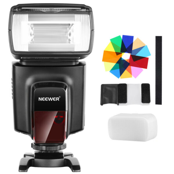 Neewer Kit Flash Speedlite TT560 con 12 Filtri Colorati per Canon Nikon DSLRs